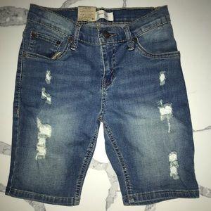Boys Levi jean shorts, brand new